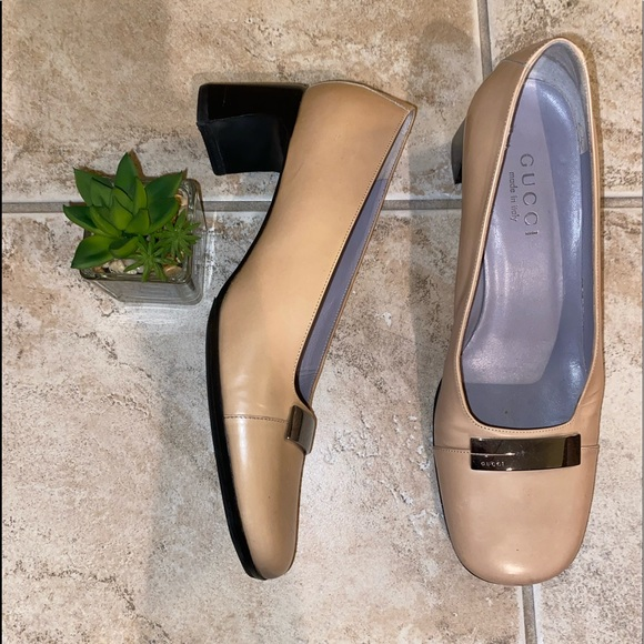 Gucci Tan Pumps 7.5